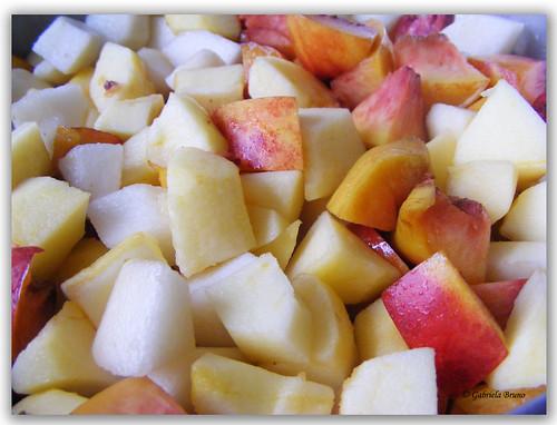 Crumble de frutos da época