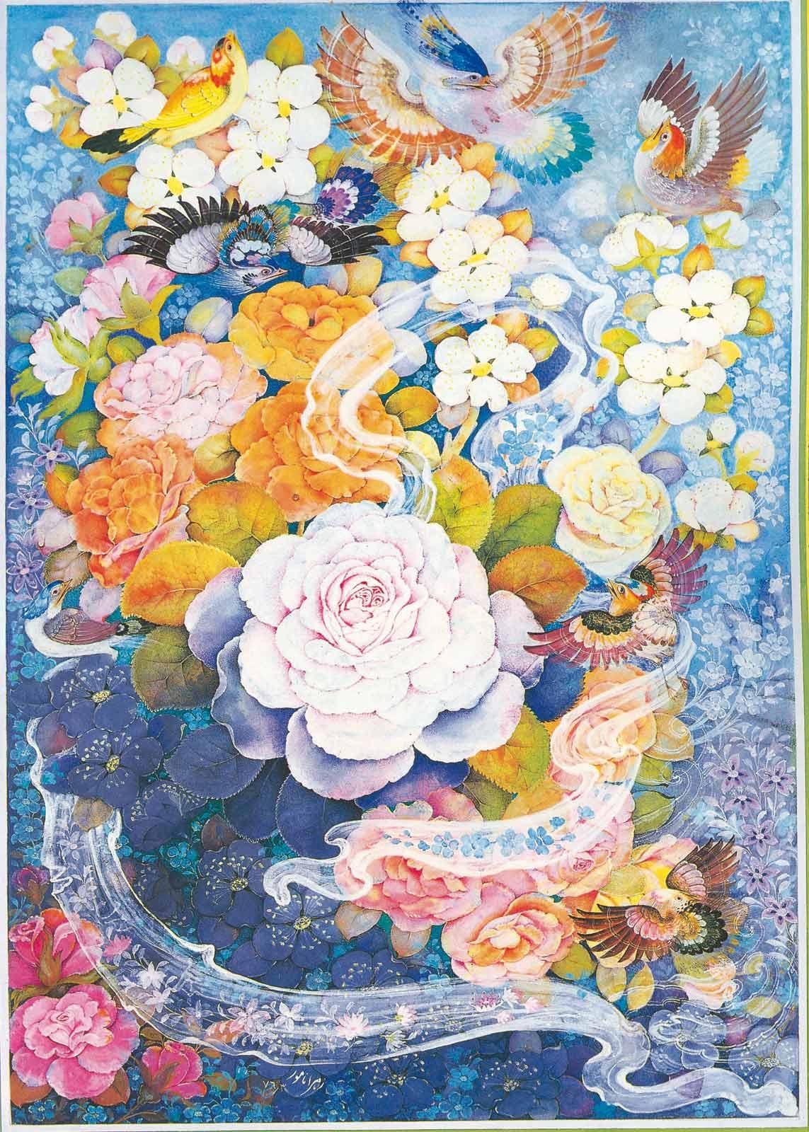 Irani, Iranian miniatures, Iranian painting, Iranian drawings,