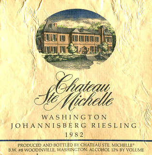 USA - Chateau Ste. Michelle Chenin Johannisberg Riesling 1982