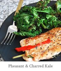 Pheasant & Charred Kale