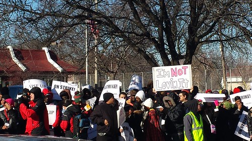 #fastfoodstrike Milwaukee