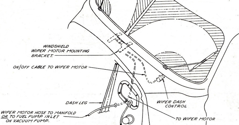 Wiper Motor Vacuum Hose Would Simply Be Routed To Intake Manifold Or Inlet On Pump If That System Is Usedsee 2: 1964 Chevy Pickup Wiper Motor Wiring Diagram At Sergidarder.com
