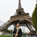 Emily under the Eiffel Tower