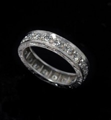 Heavy Platinum set Diamond Eternity Ring