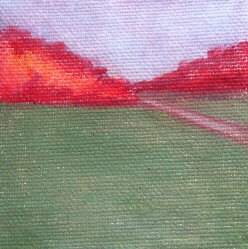 Red Trees and Green Field (Mini-Painting as of Jan. 31, 2014) by randubnick