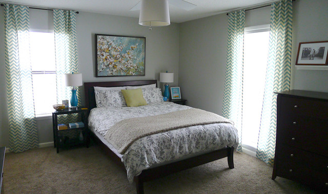 Master Bedroom with Blue