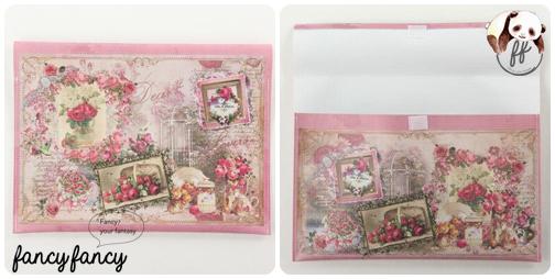 90.維多利亞風玫瑰花園B5文件夾(日本製 一組兩個)細節