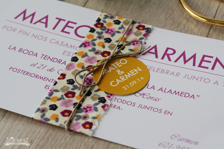 Invitacion Fabric