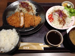 Pork Loin Tonkatsu Lunch with Extra Cabbage Salad…
