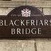 "Bronze and enamel name plaque ""Blackfriars Bridge"", London - by the Birmingham Guild c1950"