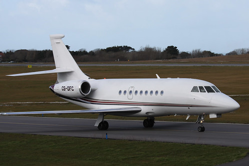 CS-DFC Dassault Falcon 2000 by Guernsey Airport Photography