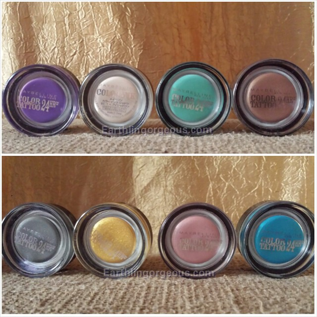 Maybelline Color Tattoo 24 Hour eyeshadow shades