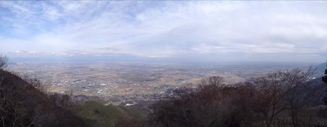 表山 養老・大垣方面の眺望