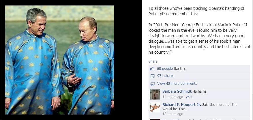 Bush Looked Into Putin S Eyes Blue Virginia