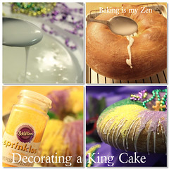 Decorating a King Cake