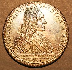 1729 Thaler of Johann Ernst VIII of Saxe-Saalfeld
