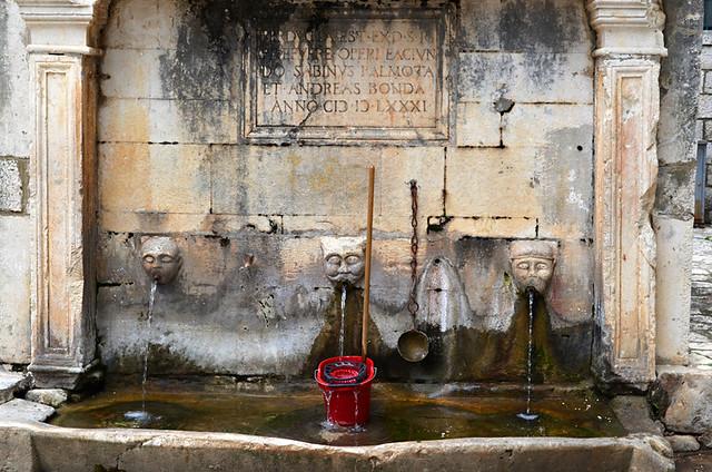 Public Fountain, Ston, Peljesac, Croatia