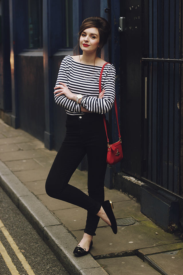 Breton Striped Tee Shirt sixties beehive beatnik