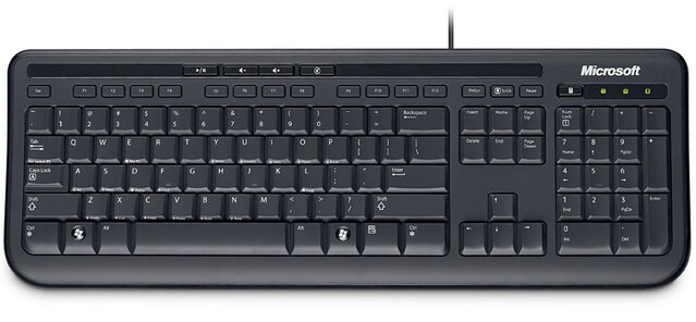 Clavier MICROSOFT Wired Keyboard 600