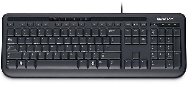 Clavier MICROSOFT Wired Keyboard 600