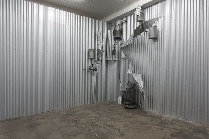 "Olaf Metzel ""Gelbes Mauerstück"" at WENTRUP Berlin, featured on artfridge.de"