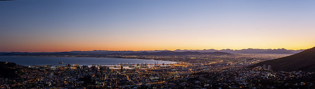 Cape Town Sunrise Panorama 06 April 2014