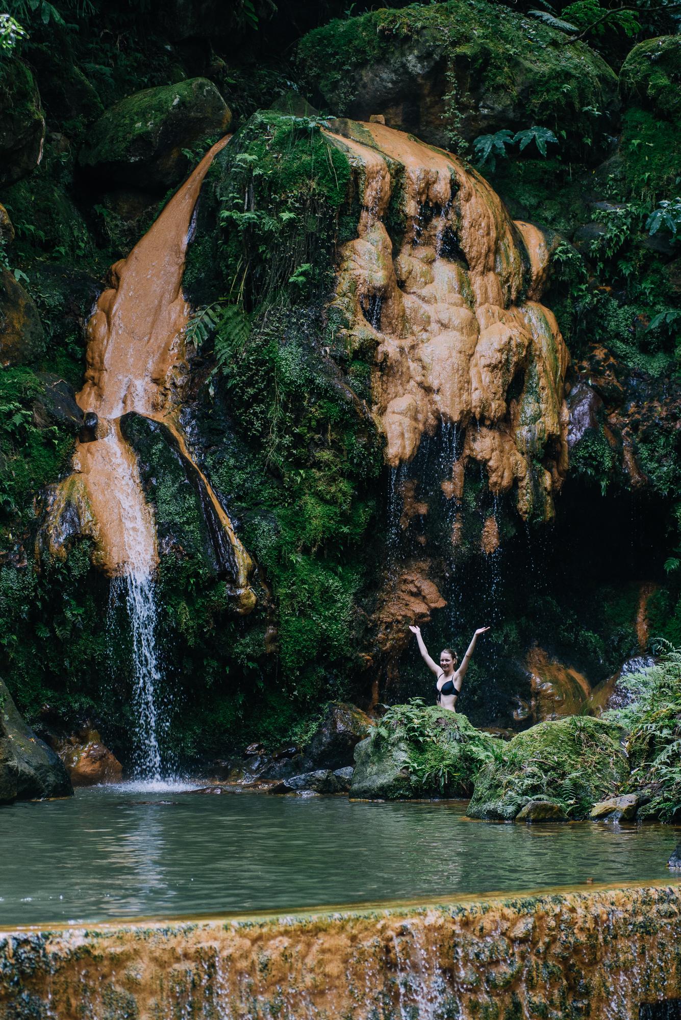 Caldeira Velha hidegebb medencéje