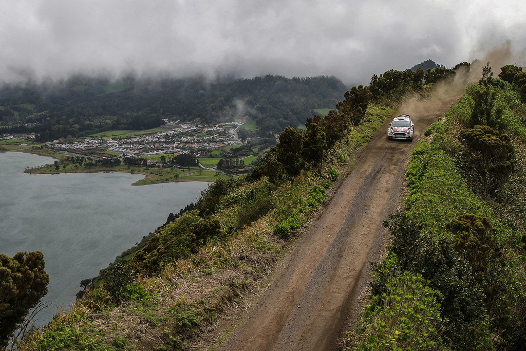 02 LUKYANUK Alexey ARNAUTOV Alexey Ford Fiesta R5 Action during the 2017 European Rally Championship ERC Azores rally,  from March 30  to April 1, at Ponta Delgada Portugal - Photo Jorge Cunha / DPPI