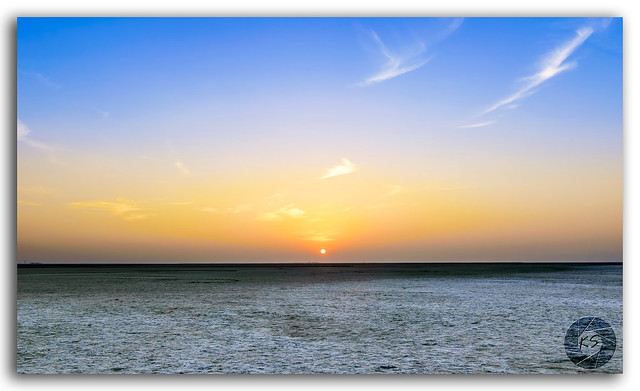 Sunset view at great Rann of Kutch, Gujarat, India