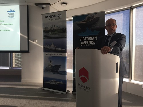 Mr Warren King (Board Member and Special Adviser, Navantia) speaking at the Navantia Industry Engagement Event - Melbourne 17 March 2017