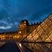 One of my favourites spot in Paris, Pyramid from Louvre, during blue hour. (for other spots, check my profile) // Un de mes spots préférés à Paris, la pyramide du Louvre, à l'heure bleue.