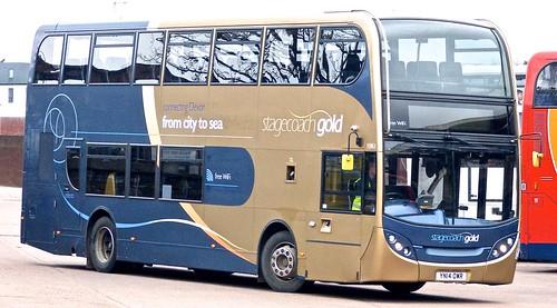 YN14 OWR 'Stagecoach South West' No. 15963 'Gold' Scania N230UD / Alexander Dennis Ltd. Enviro 400 on 'Dennis Basford's railsroadsrunways.blogspot.co.uk'