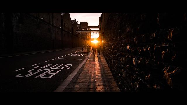 Sunset in Bellevue - Dublin, Ireland - Color street photography