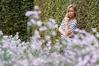 Lady C., blooming garden