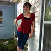 #mmmay13 day 23. Jalie jean capris, @sewingcake Hummingbird peplum top, and self-drafted tank as cami.