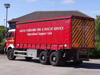 South Yorkshire Fire & Rescue Service Mercedes Operational Support Unit