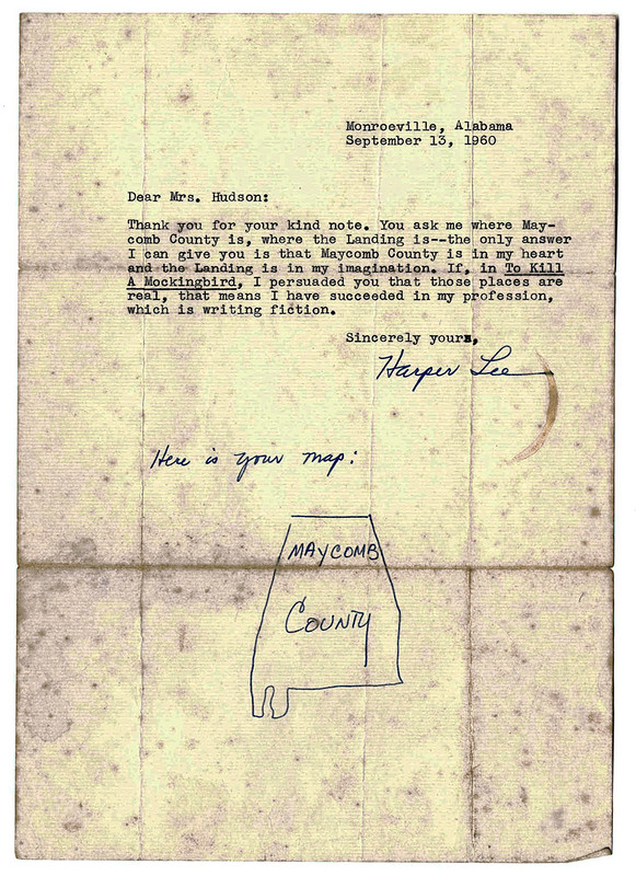Harper Lee Letter on Maycomb County