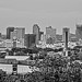 Black and White Of Nashville City Scape