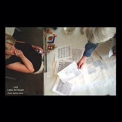 @nadinesuecharity talks WORK and PROCESS with Julie Glass. #las #laborartsweat #art #artist #work #process #yonic #yonicalphabet #artistinresidence