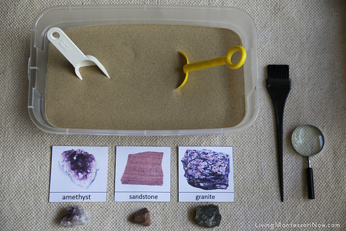 Rock and Mineral Excavation Sensory Tub