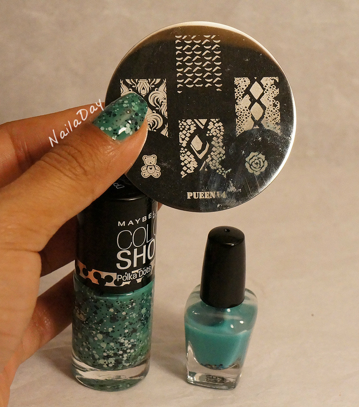 NailaDay: The pond mani, with Maybelline Drops of Jade and Love and Beauty Jade