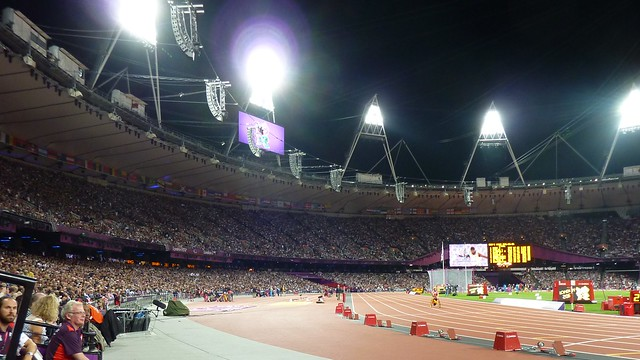 The crowd in the Olympic Stadium