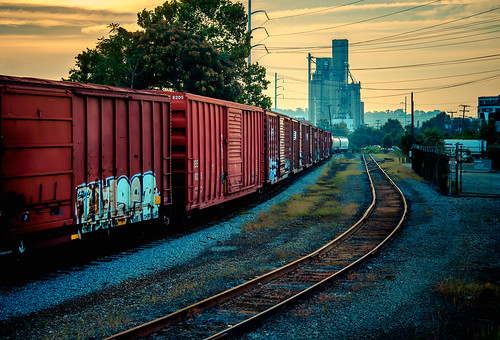 railroad art car yard train sunrise graffiti ride tag tracks rail richmond va railyard freight rva traveler trainhopping freighthopping benching