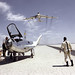 HL-10 on Lakebed with B-52 flyby by NASA on The Commons