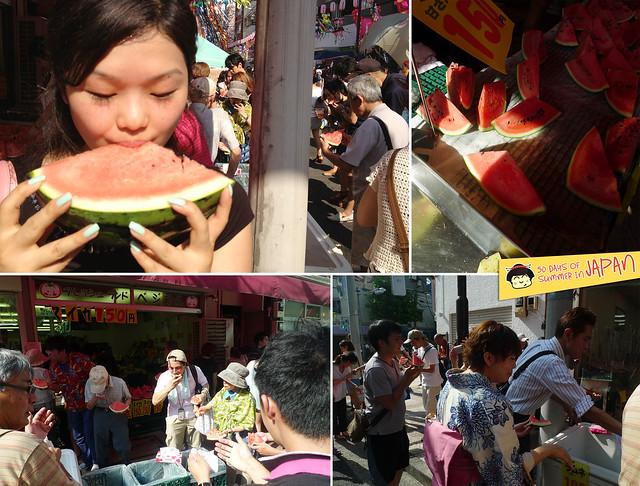 Shitamachi Tanabata Matsuri (2013) - eating watermelon