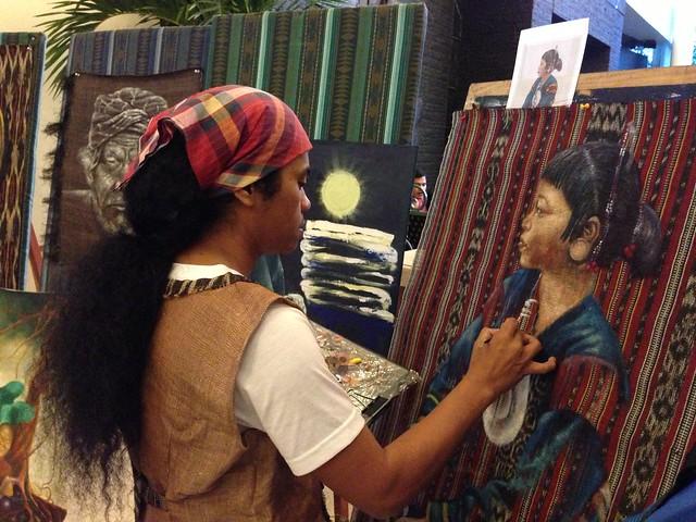 Annual Kadayawan Fiesta at Apo View Hotel Davao - Tiboli artist Ronald Tamfalan