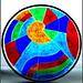 Jewel Coloured Nautilus_fused glass_bathroom_window