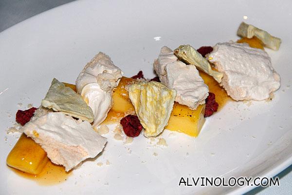 Lemon 7 Yuzu (S$15) - lemon yuzu bar, passion fruit caramel, crushed candy meringue, freeze-dried pineapple and raspberry, sprinkled with coconut soil