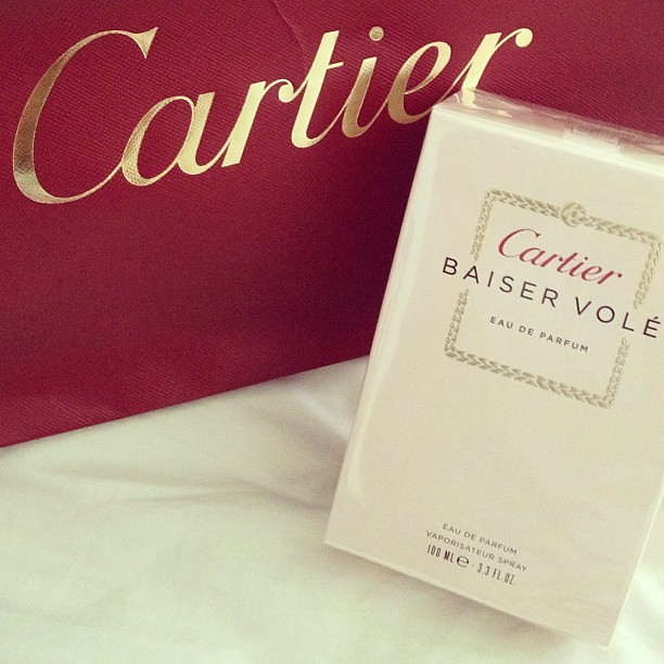 New perfume sent to me by @Cartier. #BaiserVolé. It means Stolen Kiss. How lovely. Fresh, floral and powdery based on one of my favourite flowers, the #lily. Thanks Rustan Marketing Corp.