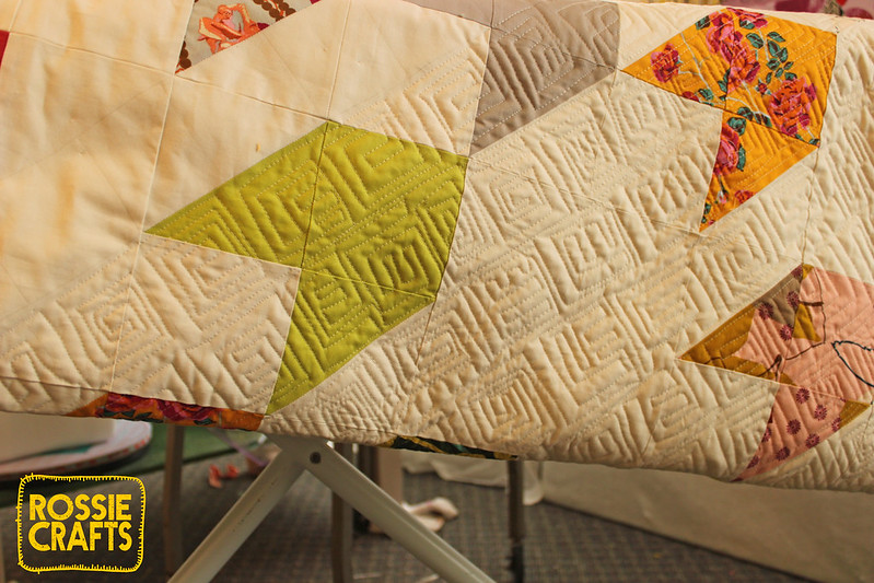 The Flyer Quilt - quilting in progress